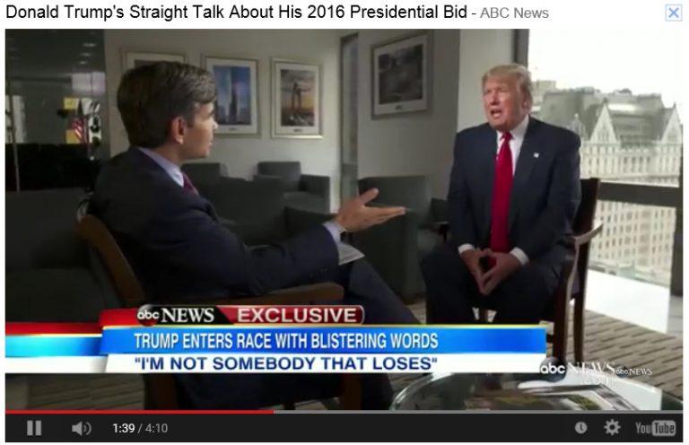 Bro. Donald Trump's Straight Talk About His 2016 Presidential Bid – ABC News