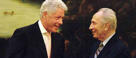 Shimon Peres and Bill Clinton, Toronto Canada, May 16, 2006